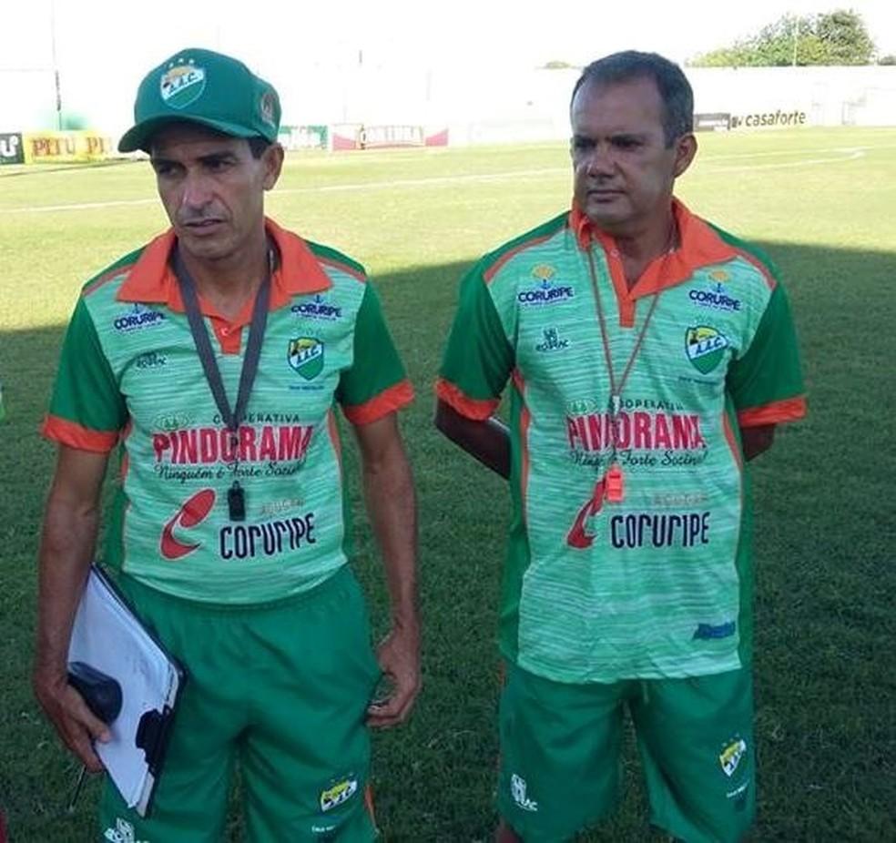 Elenilson Santos, treinador do Coruripe — Foto: Agapito Santana/Ascom Coruripe