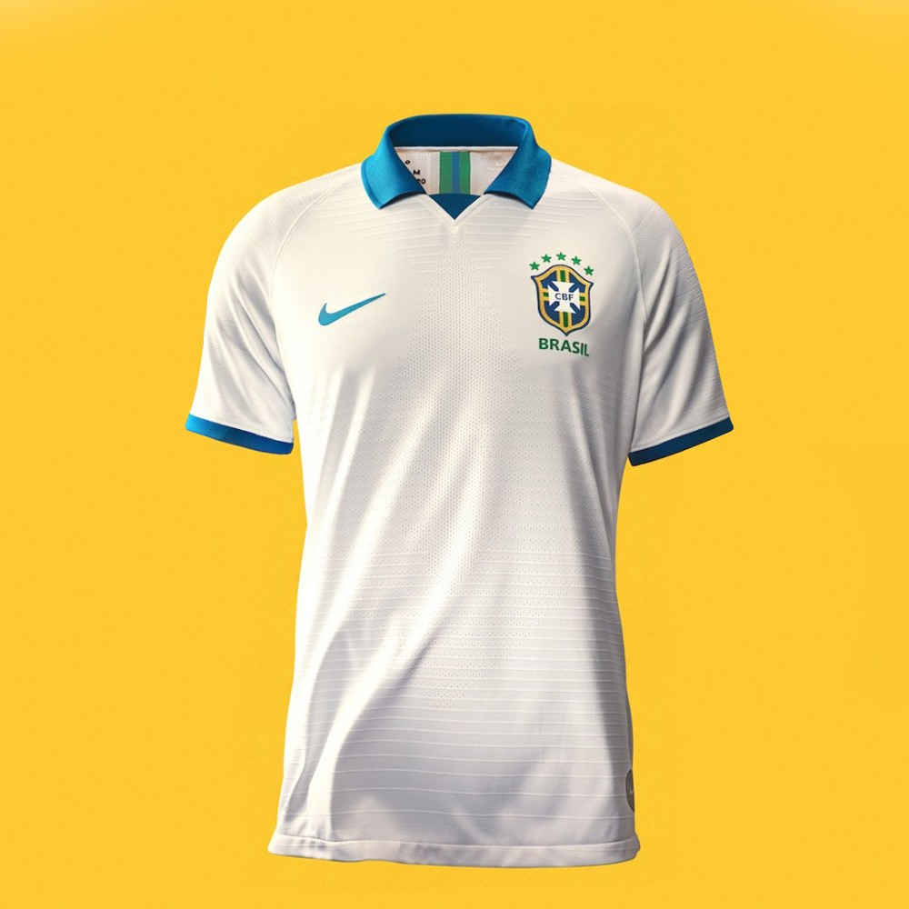 Nova camisa branca da da seleção (Foto: Divulgação)