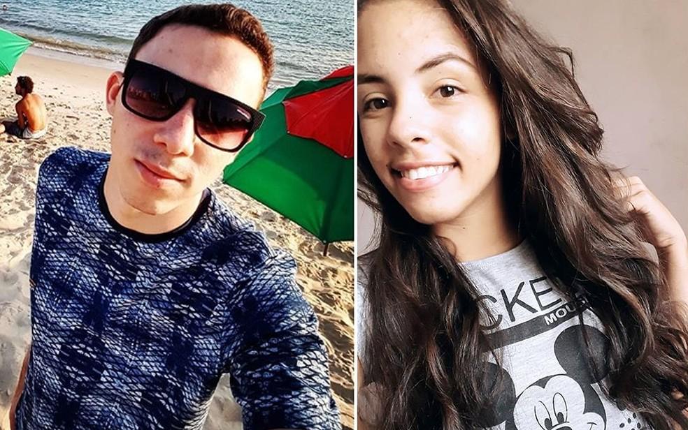 Bruno Golveia (à esquerda) e a namorada dele, Lays Cristina da Silva Santos (à direita), morreram em acidente em Sapezal — Foto: Facebook/Instagram/Reprodução