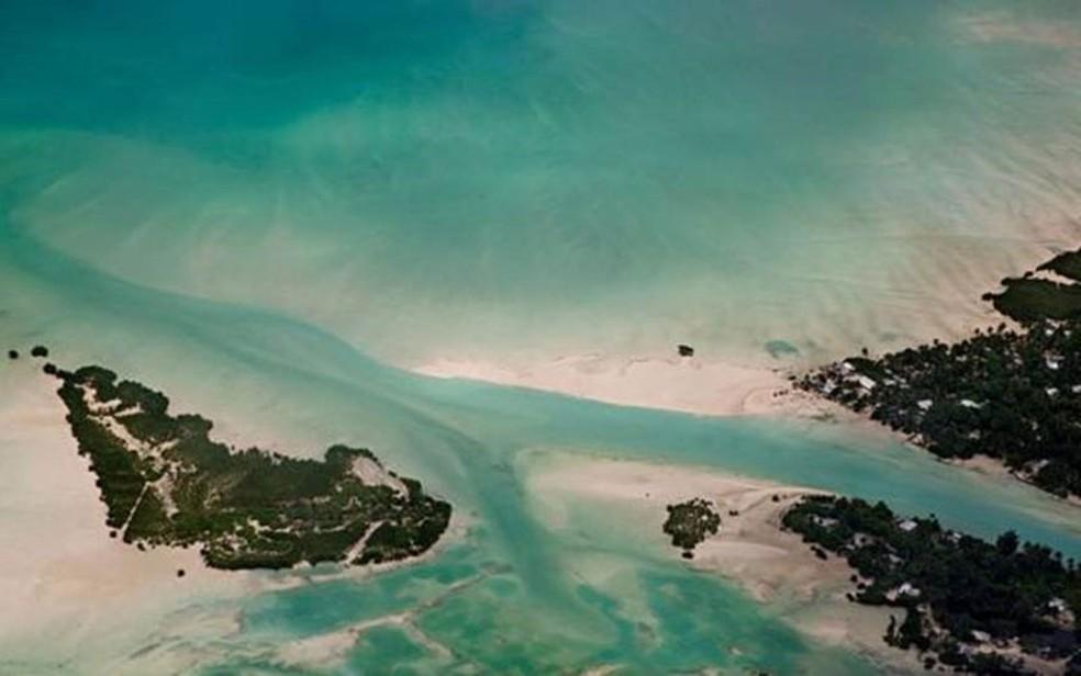 Kiribati também abriga a reserva marinha mais importante do Pacífico Sul — Foto: Getty Images/BBC