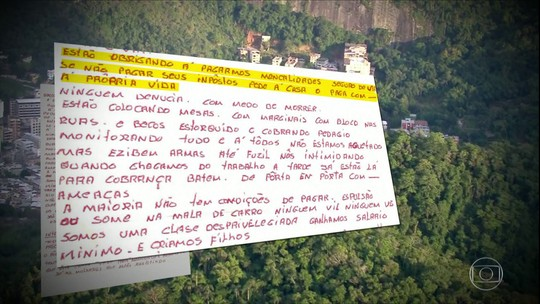 Em carta, morador da Muzema denuncia cobrança de 'seguro de vida' pela milícia da região