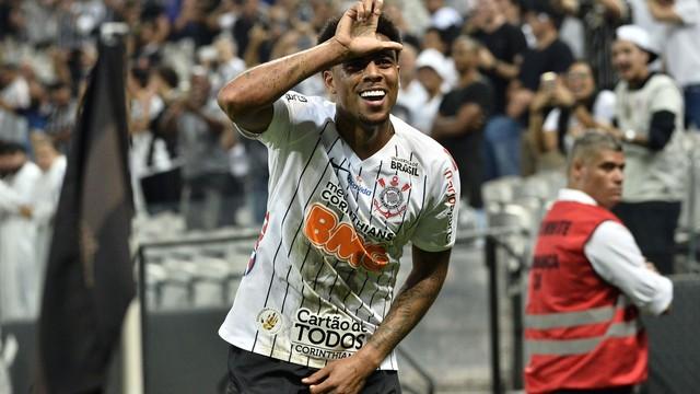 Gustagol, autor do primeiro gol do Corinthians