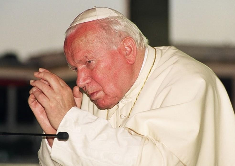 Imagem do papa João Paulo II — Foto: A12