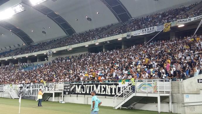 Torcida do ABC - Arena das Dunas (Foto: Jocaff Souza/GloboEsporte.com)