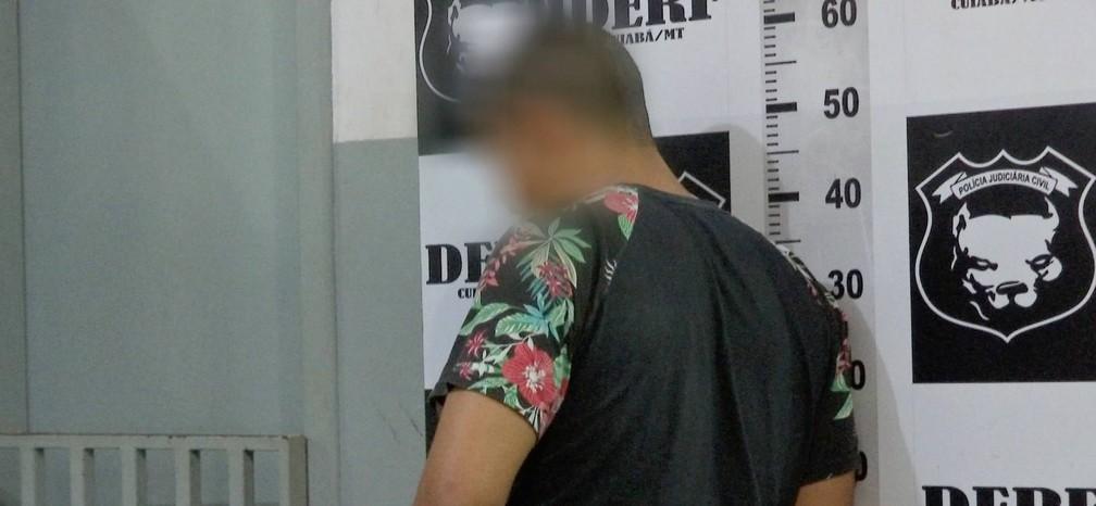 Motorista pediu desculpas ao ser levado à delegacia em Cuiabá — Foto: TV Centro América