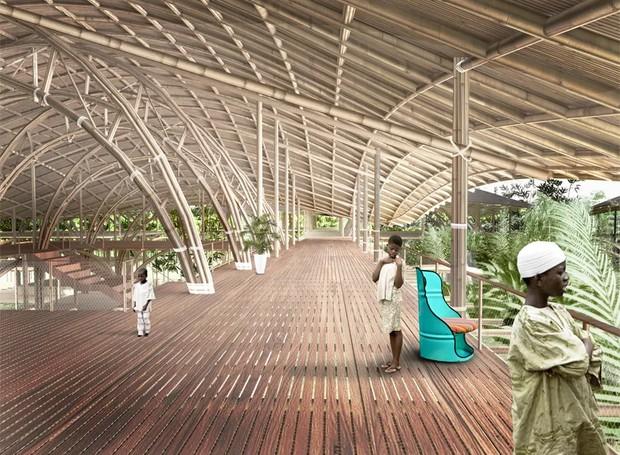 O local funciona como um parque público, onde os habitantes de Lagos podem entrar em contato com a natureza (Foto: Designboom/ Reprodução)