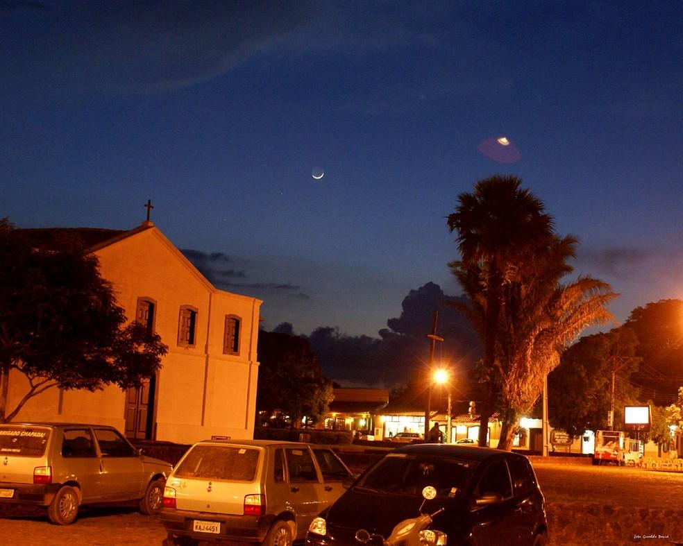 Foram registrados aparecimentos de discos voadores no céu de Chapada dos Guimarães em 2008, 2009 e 2010 — Foto: Geraldo Davi/ Arquivo pessoal