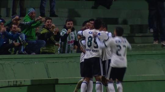 O gol de Gols Coritiba 1 x 0 Atlético-GO pela 2ª rodada da Série B