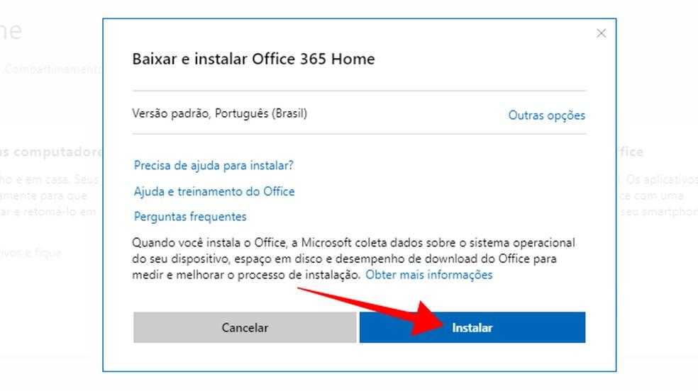 Baixe o Office em português — Foto: Reprodução/Paulo Alves