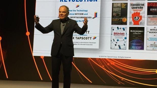 Don Tapscott durante o Fórum de Inovação da Mastercard (Foto: Adriano Lira)