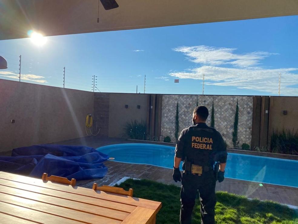 Casa de luxo de um dos alvos da operação da PF em Mato Grosso — Foto: Polícia Federal de Mato Grosso