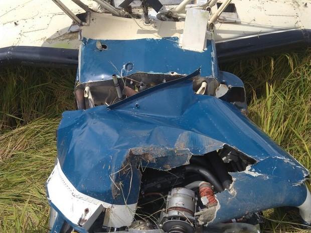 Piloto da aeronave não foi localizado pela polícia após acidente (Foto: Polícia Militar/Divulgação)