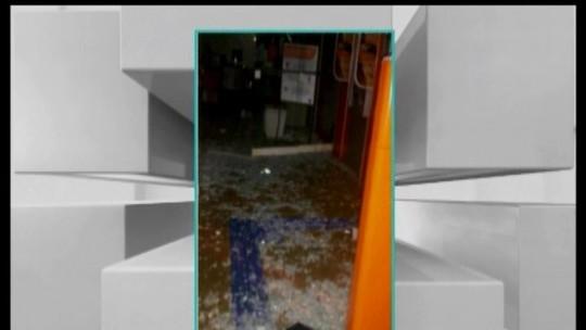 Criminosos armados explodem caixas de agências bancárias em Ibiá