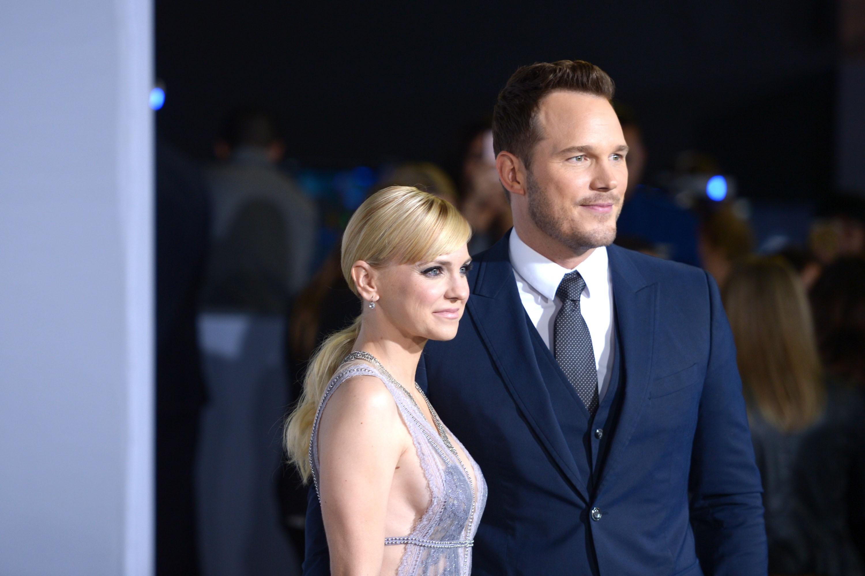 O ator Chris Pratt e a atriz Anna Faris (Foto: Getty Images)