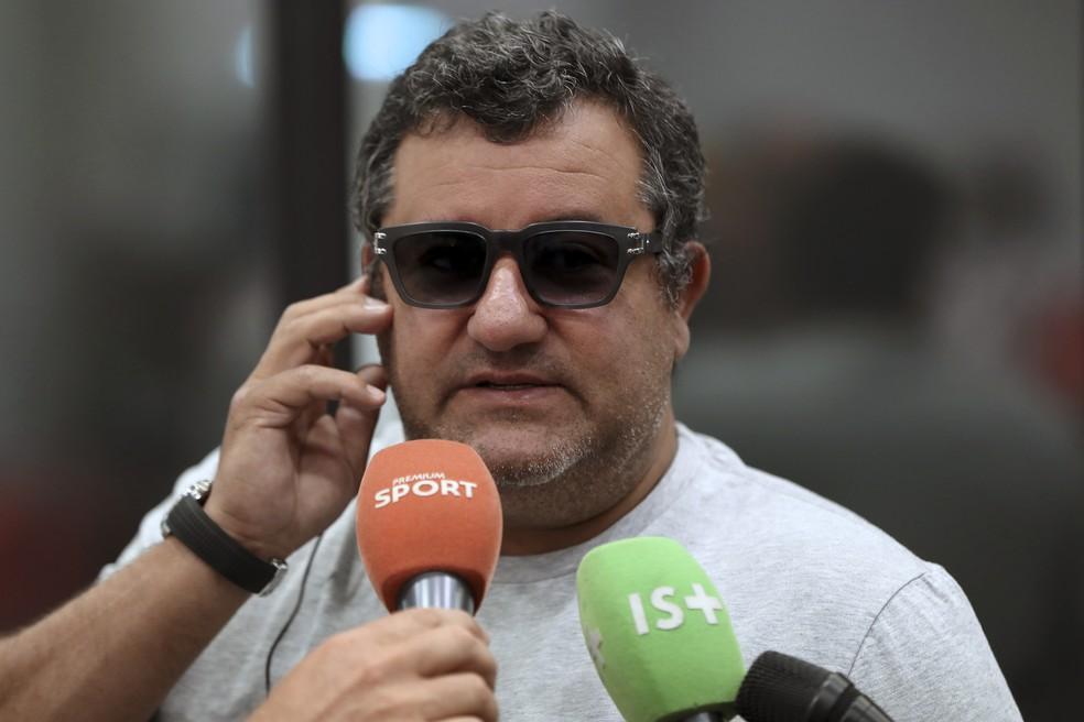 Mino Raiola é o agente de Mário Balotelli — Foto: AFP