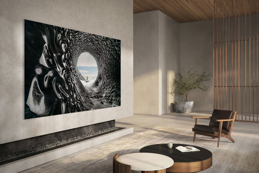 TV Samsung com tecnologia MicroLED. — Foto: Divulgação/Samsung