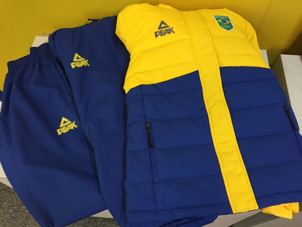 Team Brazil uniforms for the 2018 Winter Games (Photo: Raphael Andriolo)
