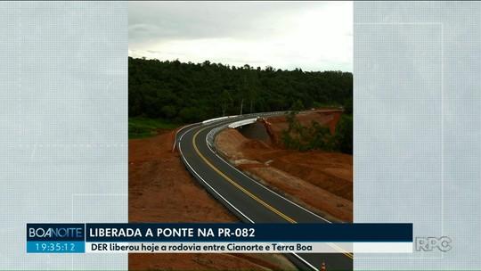 Após oito meses, ponte entre Cianorte e Terra Boa é liberada