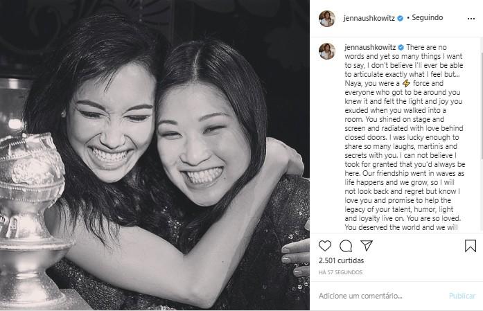 Jenna Ushkowitz presta homenagem a Naya Rivera (Foto: Reprodução/Instagram)