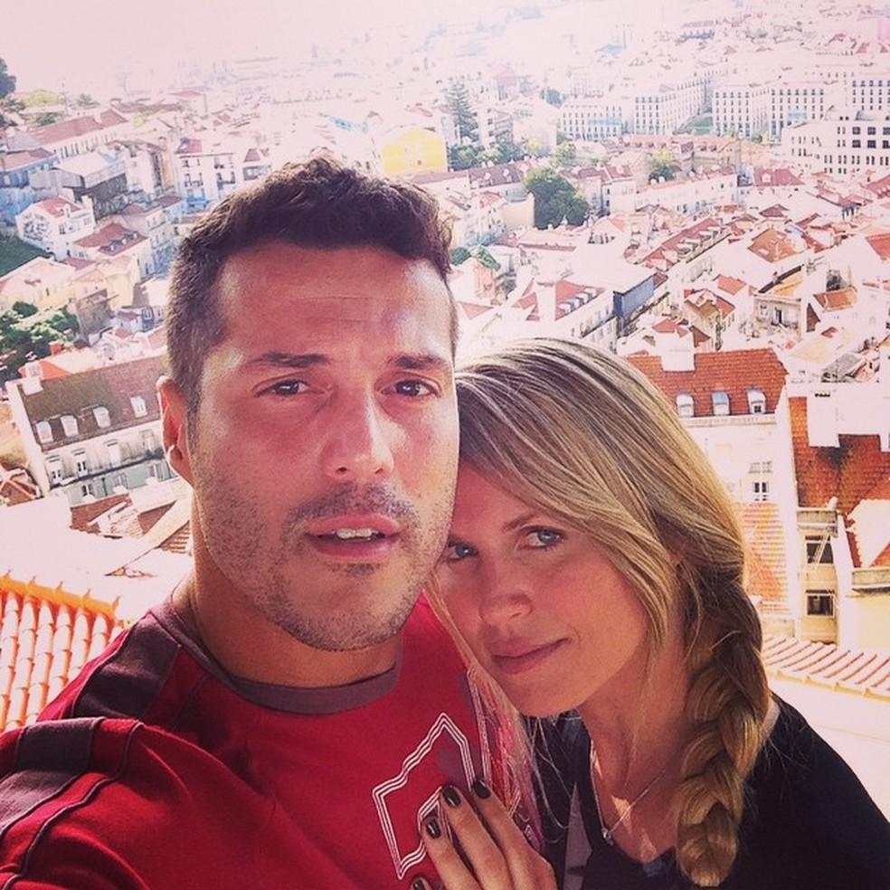 Susana Werner e Julio Cesar em Lisboa (Foto: Reprodução/ instagram)
