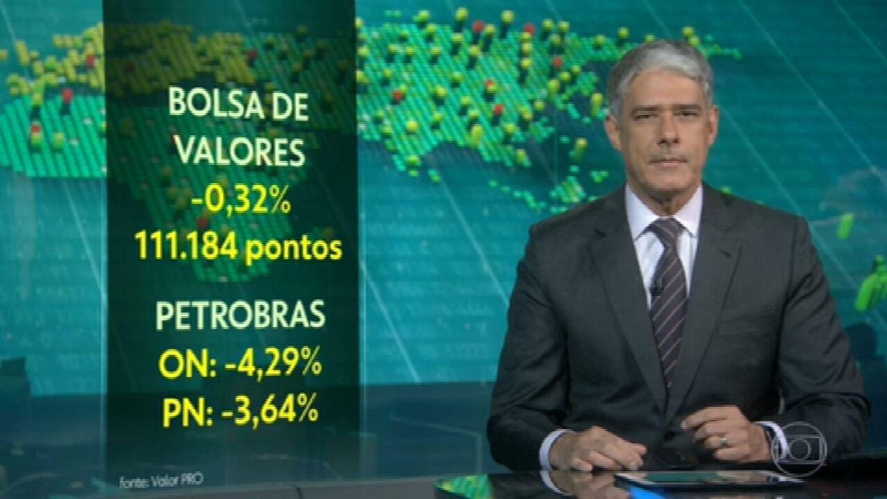 Bolsa de Valores brasileira chega a cair mais de 3%, mas queda perde força no fim do pregão
