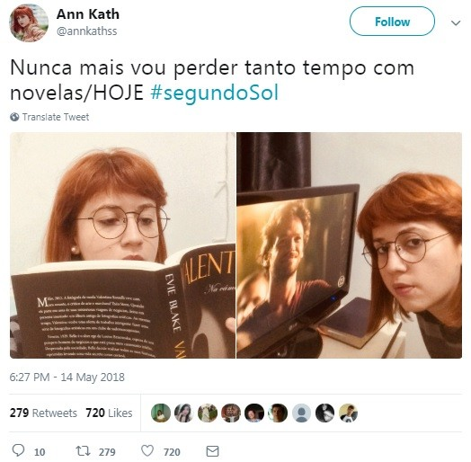 Internauta faz piada com a estreia de 'Segundo Sol' (Foto: Reprodução / Twitter)