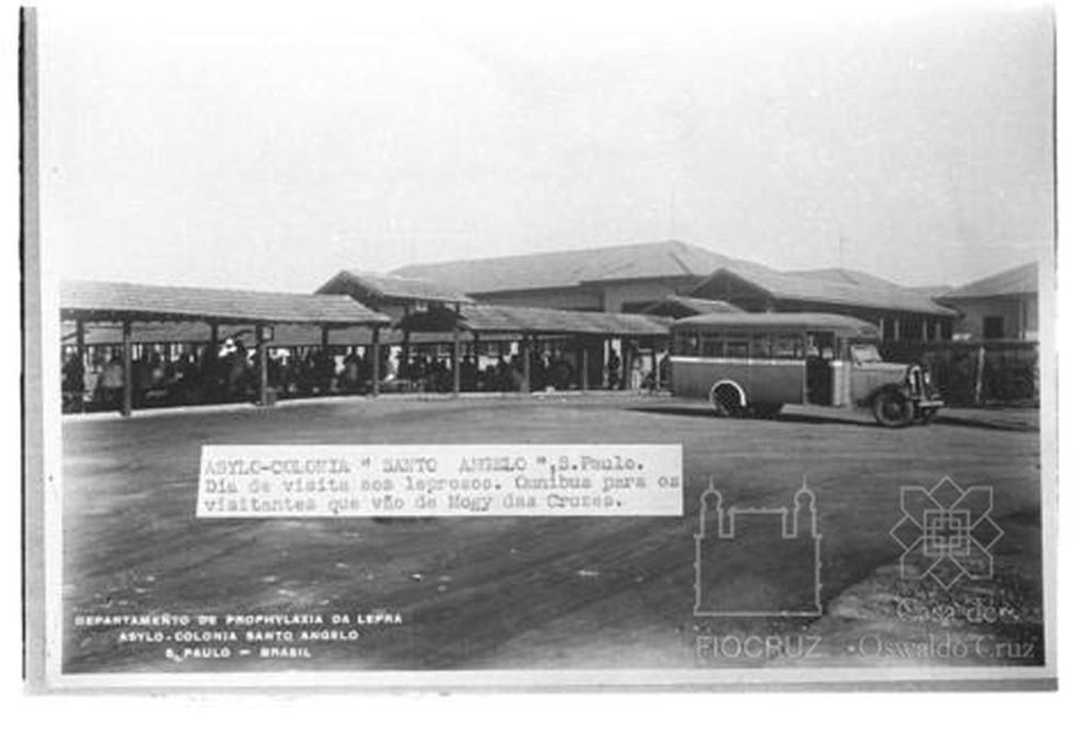 Sanatório Santo Ângelo, o primeiro leprosário construído no Brasil pelo governo para isolar pacientes de hanseníase, fundado em 1926. — Foto: Fundação Oswaldo Cruz. Casa de Oswaldo Cruz