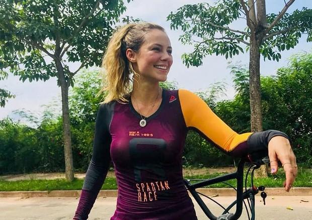 Paolla Oliveira mostram fim de treino de bike (Foto: Reprodução/Instagram)