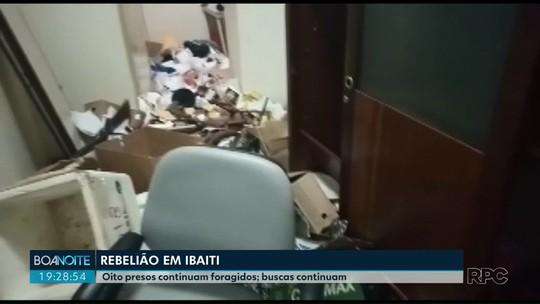 Oito presos continuam foragidos da cadeia pública de Ibaiti