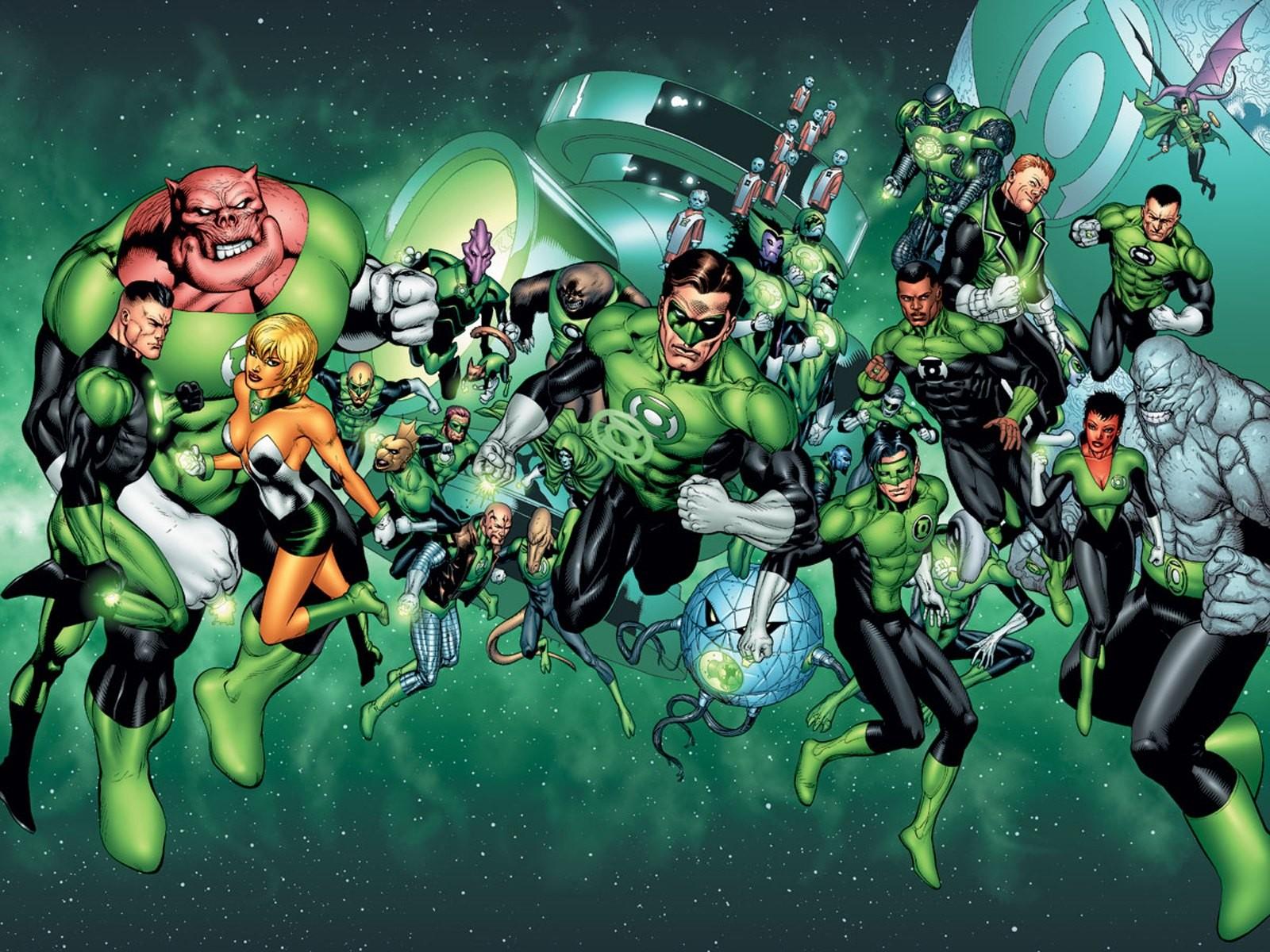 O herói Hal Jordan e a Tropa dos Lanternas Verdes (Foto: Reprodução)