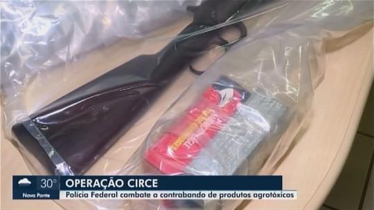 Polícia Federal faz operação contra contrabando de produtos agrotóxicos em Ibiá
