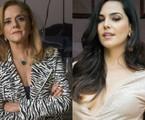 'O outro lado do paraíso': Sophia (Marieta Severo) e Aura (Tainá Müller) | TV Globo