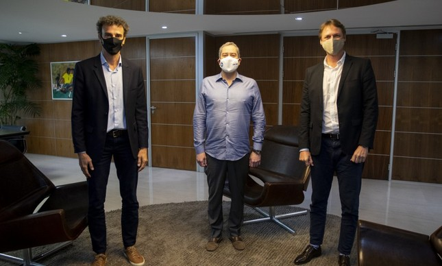 Emanuel Rego, Rogério Caboclo e Raphael Westrupp