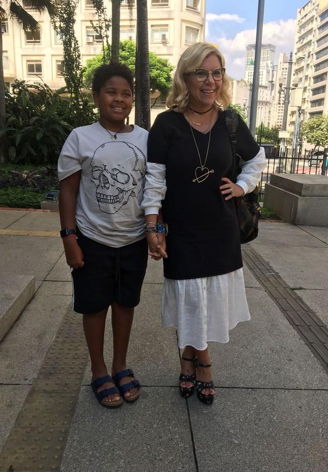 Astrid Fontenelle e o filho, Gabriel (Foto: Renata Garcia)