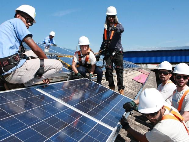 Escola de Uberlândia recebeu 48 placas fotovoltaicas; instalação foi concluída semana passada (Foto: Prefeitura de Uberlândia/Divulgação)