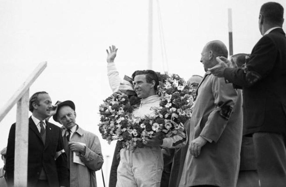 """Jim Clark, bicampeão mundial, é um dos pilotos históricos que pode ser """"deixado para trás"""" por nova geração da F1 — Foto: Getty Images"""
