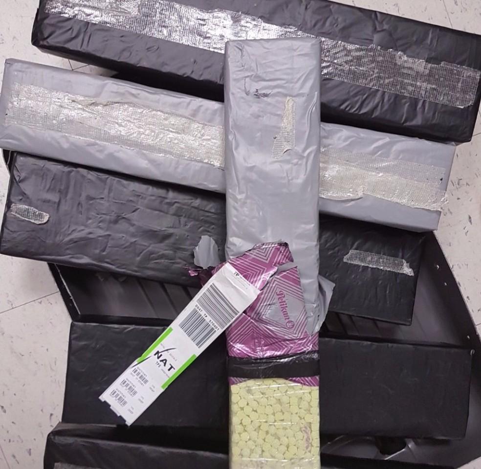 Esta foi a 3ª maior apreensão de droga sintética já realizada no aeroporto de Natal (Foto: Divulgação/PF)