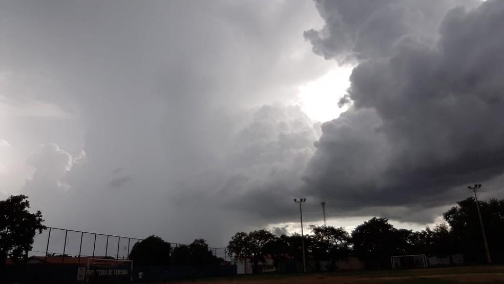Previsão de chuva para o fim de semana no Piauí — Foto: Wellington Costa