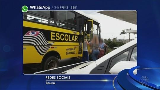 Ônibus escolar de Arealva é usado de forma irregular para transporte de doações