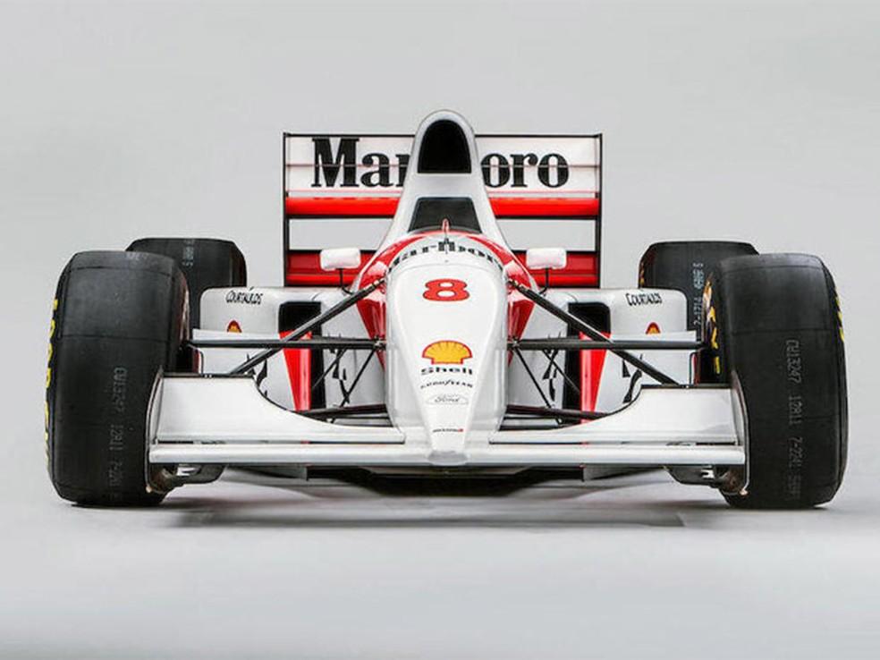 Carro pilotado por Senna em 1993 é leiloado (Foto: Divulgação)