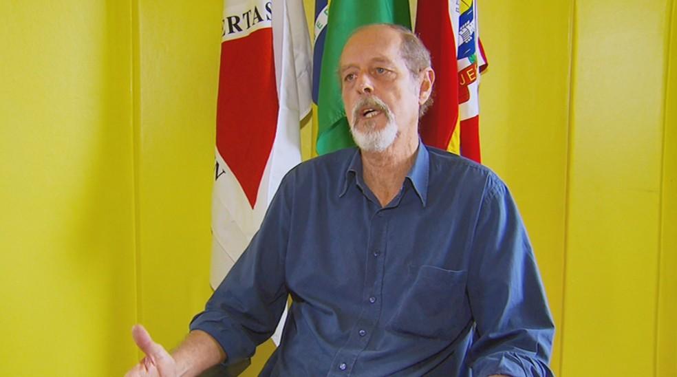 José Laércio Brandão de Castro (PROS) assumiu a Prefeitura de Jesuânia — Foto: Reprodução/EPTV