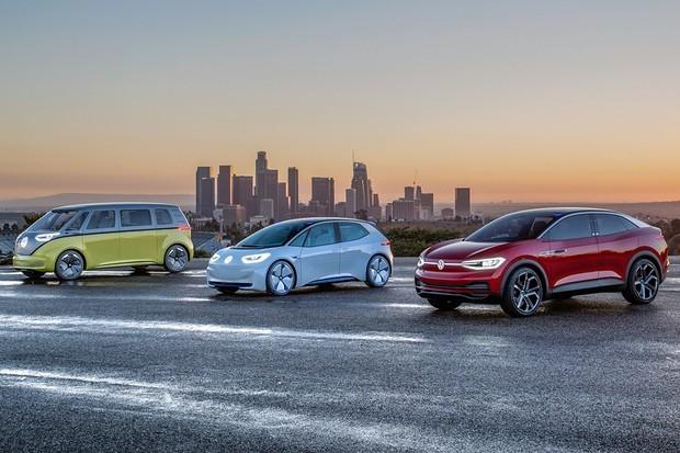 Família de elétricos Volkswagen I.D. (Foto: Divulgação)