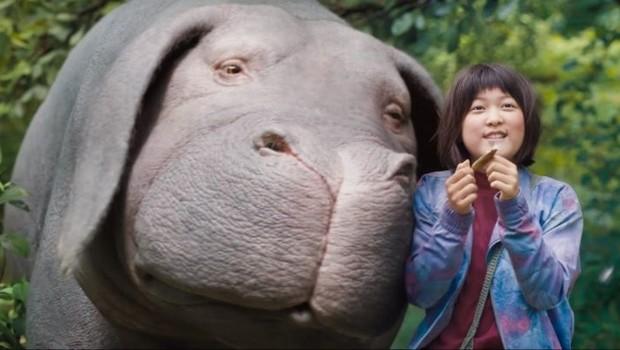 Cena de Okja. Produção foi exibida no ano passado em Cannes (Foto: Divulgação)