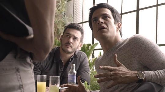 Teaser: Eric e Domênico desconfiam de Sandra Helena