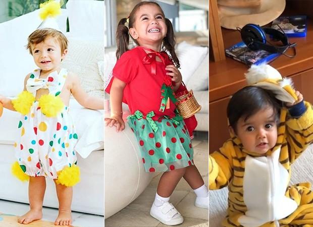 Filhos de famosos comemoram o Carnaval (Foto: Reprodução/ Instagram)