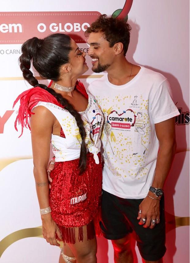 Aline Riscado e Felipe Roque (Foto: Daniel Janssens/ QUEM)
