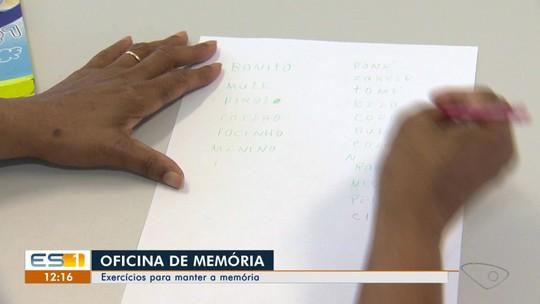 Oficina no Centro de Convivência do Idoso em Vila Velha ajuda a exercitar a memória
