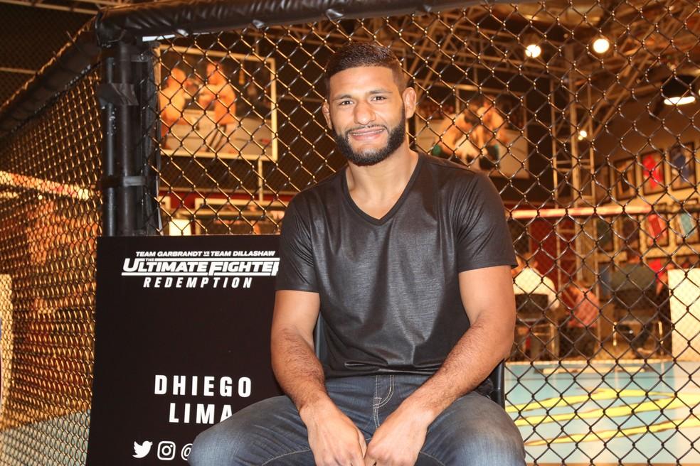 Dhiego Lima tenta emplacar sua terceira vitória consecutiva no UFC — Foto: Evelyn Rodrigues