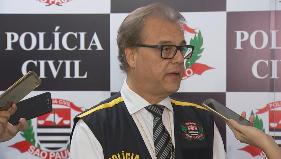 Delegado José Mauro Venturelli, de São José do Rio Preto, disse que não vai comentar o caso — Foto: Reprodução/TV TEM