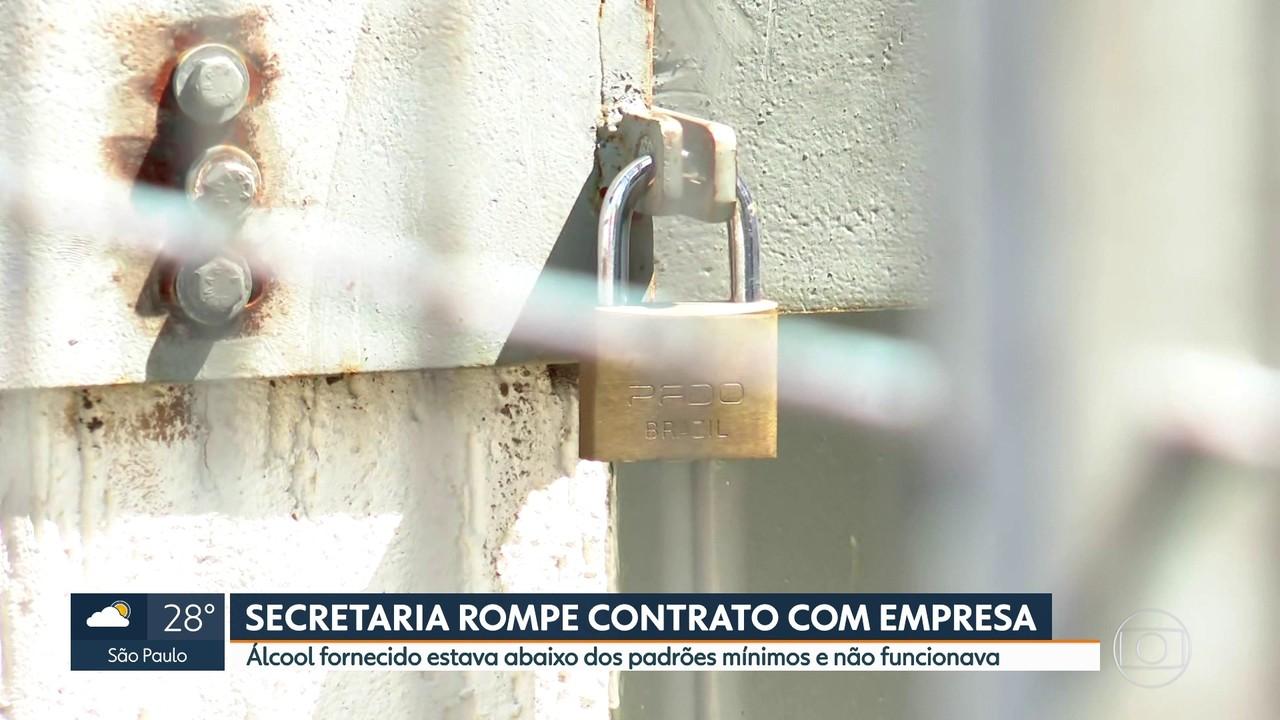 Secretaria Estadual da Saúde rompe contrato com empresa que forneceu álcool